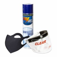Paket Safety Apd Face Shield Masker Scuba Disinfektan Spray 350ml
