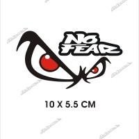 cutting sticker NO FEAR stiker motor