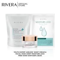 Rivera Paket Anti Aging Night Cream + Sheet Mask