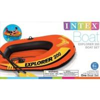 Intex Explorer Rubber Boats 200+Dayung. Perahu Karet Renang Anak 58331