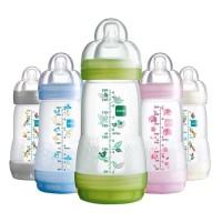 MAM Botol Susu Anti Kolik / Anti Sedak / MAM Anti Colic Bottle 260 ML - Merah Muda