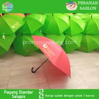[pesanan sablon] payung standar gagang J dengan sablon 1 warna 2 sisi