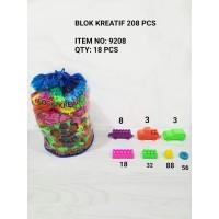 M158-208 Blok Kreatif isi 208pcs Puzzle Susun / LEGO / Mainan Edukasi