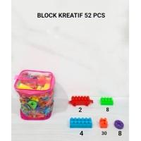 M158-52 Blok Kreatif isi 52pcs Puzzle Susun / LEGO / Mainan Edukasi