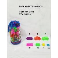 M158-108 Blok Kreatif isi 108pcs Puzzle Susun / LEGO / Mainan Edukasi