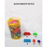 M158-88 Blok Kreatif isi 88pcs Puzzle Susun / LEGO / Mainan Edukasi