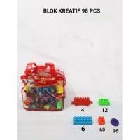 M158-98 Blok Kreatif isi 98pcs Puzzle Susun / LEGO / Mainan Edukasi