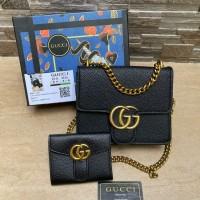 Gcci fullblack set wallet free box 320rb Uk 23x6x19cm