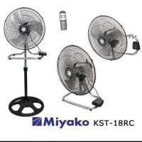 Miyako Kipas Angin Besi KST-18 RC Remote control Fan Miyako