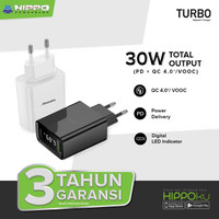 Hippo Turbo Adaptor Charger Quick Charge 4 PD18W VOOC With Digital LED