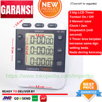 Digital Kitchen Timer / Alarm / Alarm Masak / Clock / 3 LCD NEW MODEL