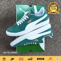 Sepatu Puma Suede-Hijau Putih-Import