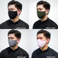 Masker Kain 2 Lapis / 2 ply Bahan Tebal Kualitas Premium