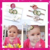 Paket 3pcs Bandana Anak Bayi Import - Baby Headband Bando Pita Rambut