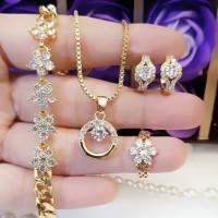 xuping set perhiasan lapis emas 24k 15s2