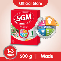SGM Eksplor 1 Plus Susu Pertumbuhan 1-3 Thn Madu 600g