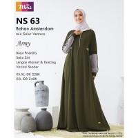 Baju gamis wanita terbaru NS 63 Ori Nibras - Baju muslim wanita busui