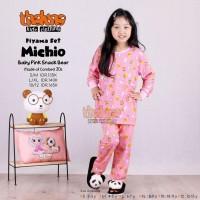 Baju tidur anak pajamas motif lengan panjang original Thaluna