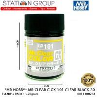 MR HOBBY MR CLEAR COLOR GX-101 CLEAR BLACK 20 - CAT GUNDAM MODEL AIRBR