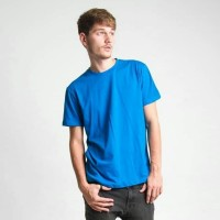 Jual Size L Kaos Polos O-Neck Lengan Pendek Aneka Warna - Kota depok - Biru, L