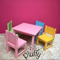 """Pluffy - Meja & Kursi Anak set """" Evalia"""" (4 kursi )"""