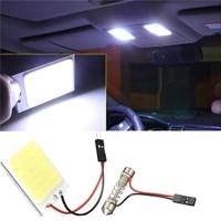 Lampu LED Kabin Plafon Mobil Festoon Dome Panel Light COB 24 SMD