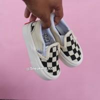 Sepatu vans anak chekerboard slip on creamy 21-35
