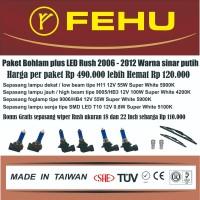 Paket Bohlam Fehu Plus LED Untuk Toyota Rush 2006 - 2012. Sinar Putih