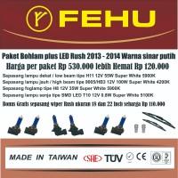 Paket bohlam Fehu plus LED Toyota Rush 2013-2014. Warna sinar putih