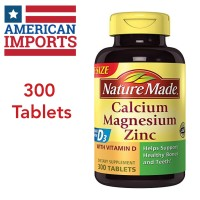 Nature Made Calcium, Magnesium, Zinc with Vitamin D3 - 300 Tablets