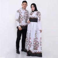 Baju Couple - Sarimbit Batik Gamis Bambu Lengan Panjang