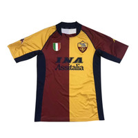 Jersey Bola RETRO AS ROMA HOME 01/02 Grade Ori Futsal 2001 2002 Baju