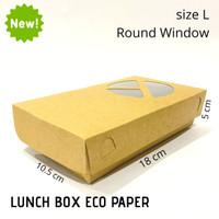 PAPER LUNCH BOX SIZE L/KOTAK TAKE AWAY/LUNCH BOX FOOD GRADE