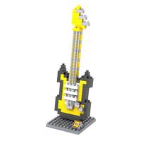 Mainan anak puzzle LOZ nanoblock electric guitar alat musik music lego