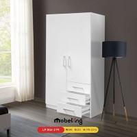 Mobeliving - Furniture Lemari 2 Pintu Full Putih simple