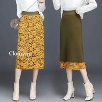 Clouwny - reverse lace skirt - rok wanita- fashion wanita