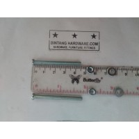 Baut JP 4X45 mm Set Mur Putih dan Ring Plat Per Set Murah M4x45mm Plus