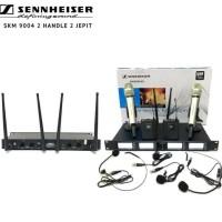 Mic Wireless Sennheiser skm 9004 2 Handle 2 Headset Kualitas Terbaik