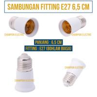 Socket sambungan Pemanjang lampu fitting E27 Bohlam Standar 6,5cm