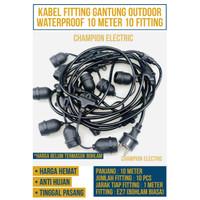 Kabel Fitting Lampu Cafe Gantung 10M 10 Meter Dekorasi Outdoor Fitting