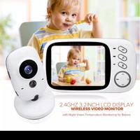 "Kamera Monitor Bayi Wireless Mom's Helper 3.2 ""Warna Night Vision"