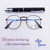 Kacamata anti blue ray /anti radiasi komputer - Hitam