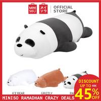 Miniso Official Boneka We Bears Bare Lying Plush Toy mainan beruang - Panda, 54cm