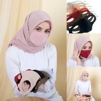 Masker Kain Hijab Bahan SCUBA Tebal Anti Air N95 Anti Virus Corona