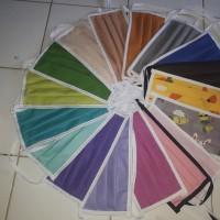 masker kain katun 2 lapis murah bisa pilih warna