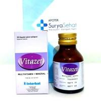 Vitazet 1 botol isi 30 kaplet Multivitamin Mineral Vitamin C 750mg