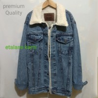 jaket sherpa jaket bulu jaket jeans bulu woll premium warna sanwosh