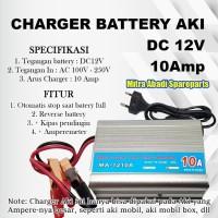 Charger Baterai/Baterry Aki 12V/12 Volt 10A/10 Ampere MA-1210A