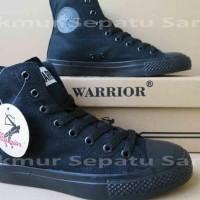 BIG SALE SEPATU SEKOLAH - WARRIOR SPARTA HC - ALL BLACK TERJAMIN