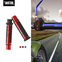 iMotor 2pcs Penutup Cap Stang handle throttle sepeda motor - Biru